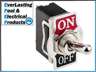 Silver Toggle Switch 2 Pin On / Off 15A 125VAC / 10A 250VAC Quality Electrical