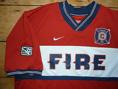 CHICAGO FIRE football shirt XL retro MLS  SOCCER jersey CAMISETA MAGLlA MAILLOT