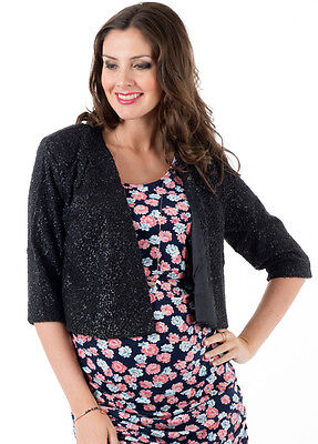 NEW - Everly Grey - Ruby Jacket in Black Shimmer | Maternity Clothes