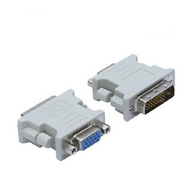 15 Pin PC Laptop Female DVI-D Male to VGA 24+1 pin Adapter Video Converter for