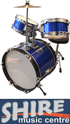Axiom Childrens Drum Kit - Complete Kids Drum Set with Sticks and Stool - BLUE