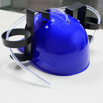 Hard Hat Helmet Beer Soda Dual Can Drinking Straw Drinking Cap Party Toy Game