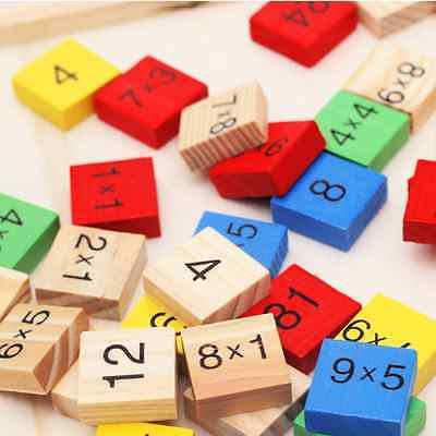 Educational Wooden Multiplication Double Side Math Table Counting Toy Fashion