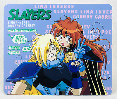 Slayers Lina Inverse & Gourry Gabriev Mouse Pad JAPAN ANIME MANGA