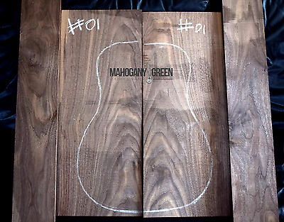 American Black Walnut Tone wood for Acoustic Guitar Back and Sides for Luthier