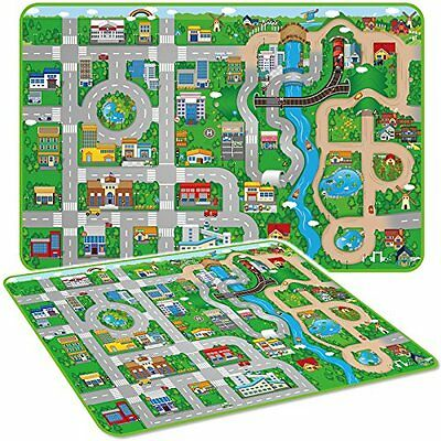 Childrens Large City Town Play Mat Carpet Kids Village