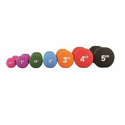 Fitness-Mad Dumbbells Pair 0.5kg Neoprene Gym Workout Lifting Weight *BNWT* Pink