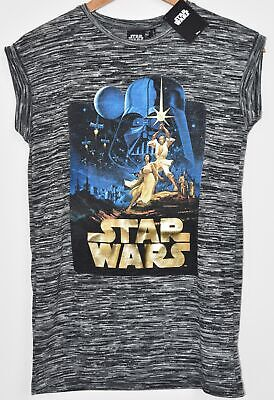 821ed283 PRIMARK STAR WARS T SHIRT GOLD LOGO RETRO LUKE LEIA DARTH LADIES SIZES 6 or  8