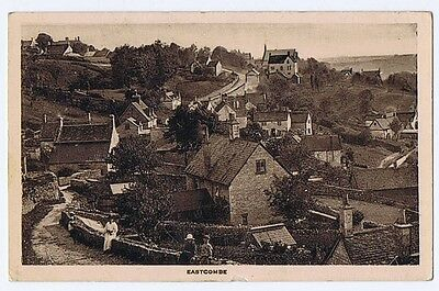 EASTCOMBE Gloucestershire, View in the Village, Postally Used Postcard c1920