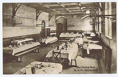 CIRENCESTER Royal Agriculture College, Dining Hall, Old Postcard Unused