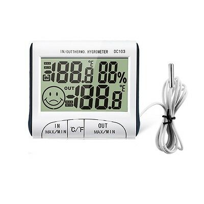Outdoor Digital Hygrometer Thermometer Indoor Humidity Temperature Meter  Fine