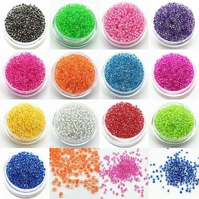 Bulk 1200x 2mm Czech Glass Seed Spacer beads Jewelry Making DIY Multi Colors