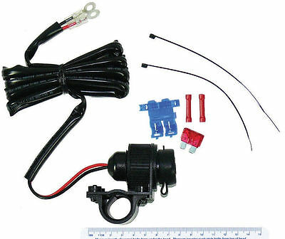 Motorcycle 12 Volt All Weather Power Socket For Honda Ct 110 Postie Bike Posty