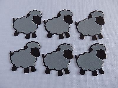 Sheep Die Cuts in Sets of 6 - Black & Grey Combo