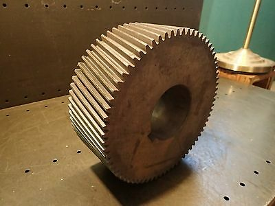 "RH Helical Gear 10-1/4"" OD 70T 75 Deg Helix Angle 4-1/4"" Thick 3-3/4"" Bore NOS"