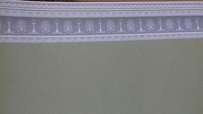 Dolls House Emporium 1:12th Scale Soft Sage Green Wall Paper with border 7182