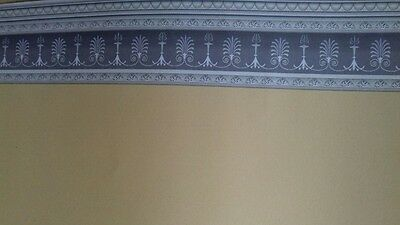 Dolls House Emporium 1:12th Scale Soft Yellow Wall Paper with border 7181