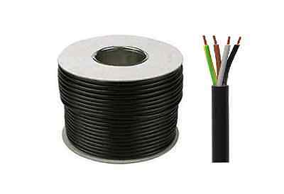 1.5mm 4 Core Flex Cable 25m 3184Y Black Lighting Cable 15 Amp FREE DELIVERY
