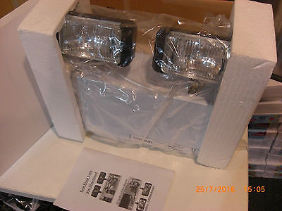 Job lot 9 x Twin Halogen Emergency Backup Industrial Floodlights, Old Stock