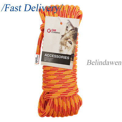 100ft 30kN / 6700lb Double Braid Rope For Climbing Pulley System Zipline Rigging