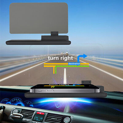 """6"""" Screen Car HUD Head Up Display Projector Holder for Phone Navigation GPS New"""