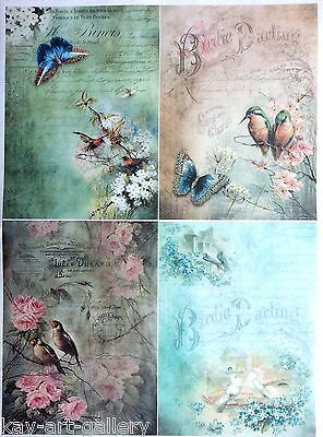 Rice Paper for Decoupage  Decopatch  Scrapbooking Sheet Craft Vintage Collage