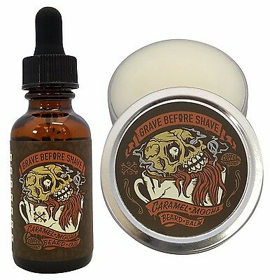 GRAVE BEFORE SHAVE CARAMEL MOCHA BEARD PACK (Caramel Mocha Coffee Scented)
