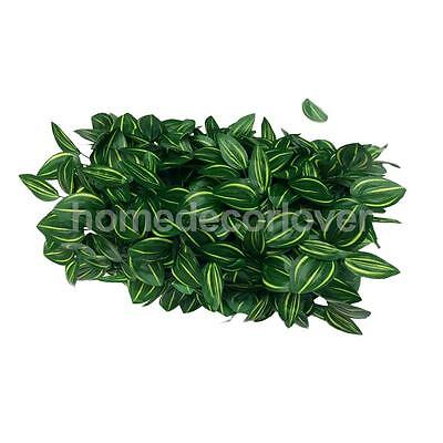 40*60cm Artificial Fake Plastic Green Grass Lawn Leaf Plants Yard Decor UK