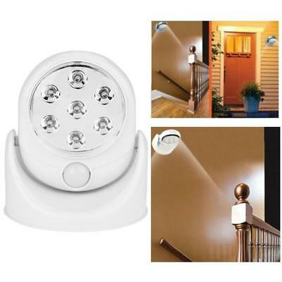 New Led Motion Activated Swivel Cordless Sensor Light In / Outdoor Security Lamp
