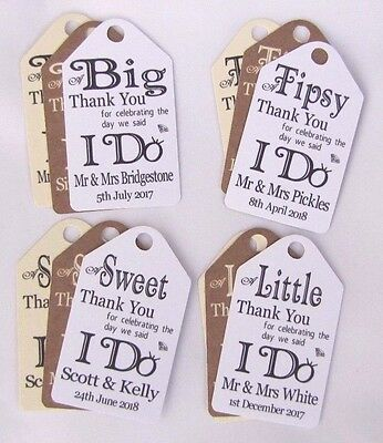 Personalised Wedding Gift/Favour Vintage Luggage Tags/Labels -Thank You TG031-34