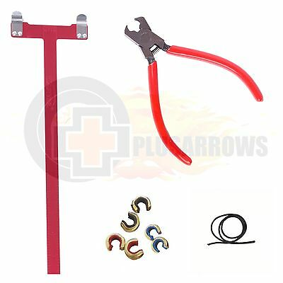 Archery Bow Nocking Point Tool Kit. Pliers, D Loop, Square and Brass Nock Set.