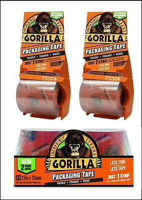 Gorilla Packaging Tape 18m or 32m Dispenser or 27m Refills Incredibly Strong