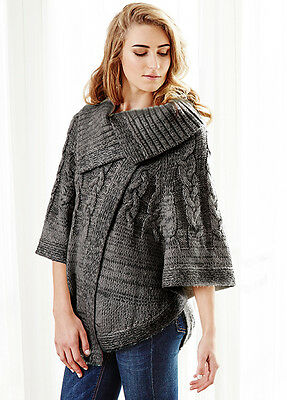 NEW - Deshabille - Delilah Cable Knit Poncho