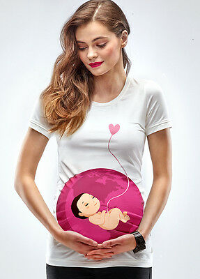 NEW - Mamagama - You Are My World T-Shirt - Maternity Tee
