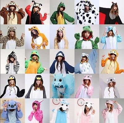 New Unisex Kigurumi Pajamas Adult Anime Cosplay Costume Onesie Sleepwear