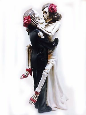 New Day of the Dead Gothic Skeleton Zombies Sexy Cake Topper Wedding Decorations