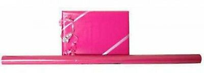 JAM Paper Solid Glossy Wrapping Paper Rolls, Hot Pink