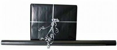 JAM Paper Solid Glossy Wrapping Paper Rolls, Black