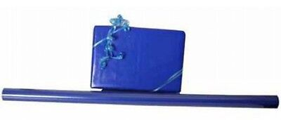 JAM Paper Solid Glossy Wrapping Paper Rolls, Royal Blue