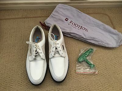 Footjoy Women's White & Taupe Golf Shoes 7.5N
