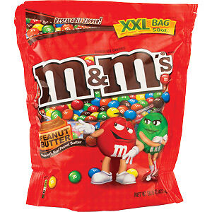 M&M's Peanut Butter XXL Bag 1417.5g bulk M & M