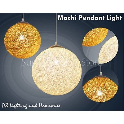 MACHI Natural Modern Home Cafe Ceiling Pendant Lighting Lamp Lights BROWN/White