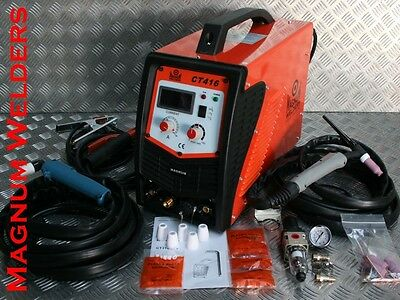 Magnum Welders CT416 Plasma Cutter, DC Tig, Arc 160Amp 3in1 Welder