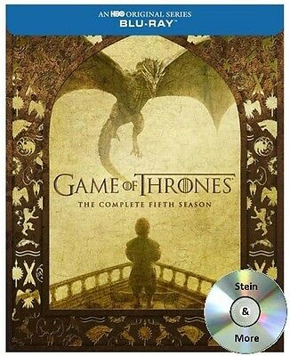 Game of Thrones: The Complete Fifth Season 5 Blu-Ray 2016 Free Shipping