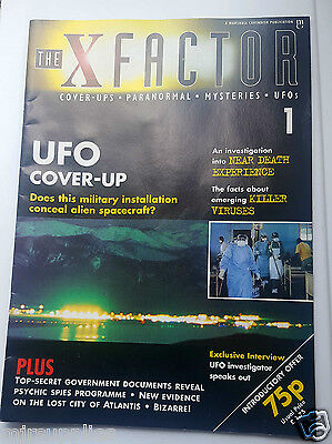 The X Factor Paranomal UFO's Cover Ups Magazine 1  1996