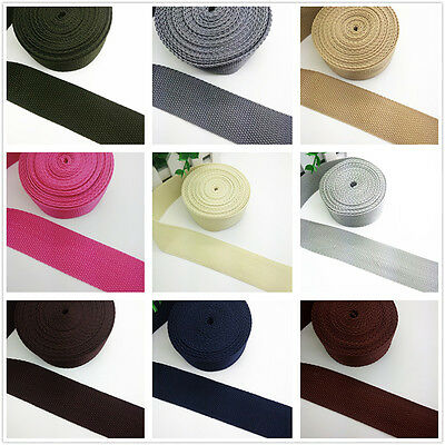 New Hot 2 5 10 50 Yards 38mm 1.5 inch Width Nylon Webbing Strapping 22 color