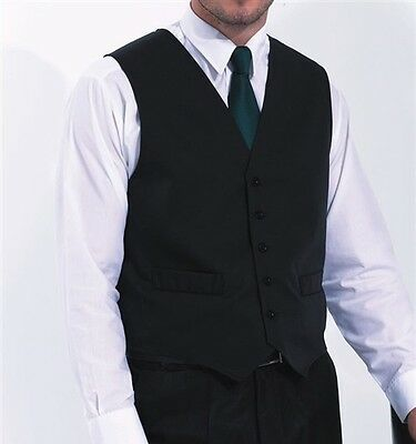 New Hospitality Waistcoat Bar Staff Light Weight In 4 Colours
