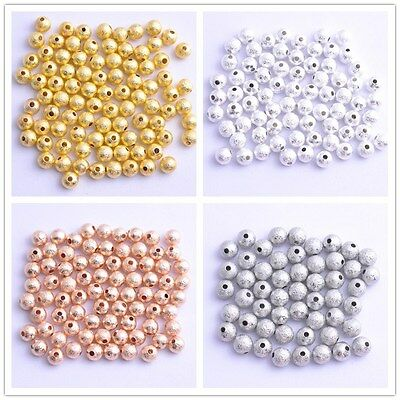 20x BRIGHT STERLING SILVER STARDUST ROUND SPACER BEADS 3.5mm #1243
