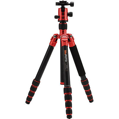 MeFOTO GlobeTrotter Aluminum Travel Tripod Red with Carry Case