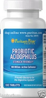 Puritan's Pride Probiotic Acidophilus X100 Tablets Supports Overall Well-being